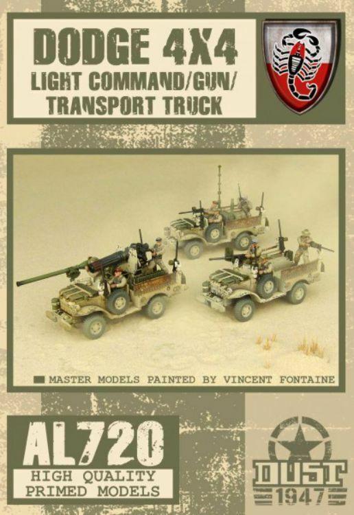 Dust 1947 Dodge 4x4 Luce Command Gun Trasporto Camion Primed Edizione Paolo