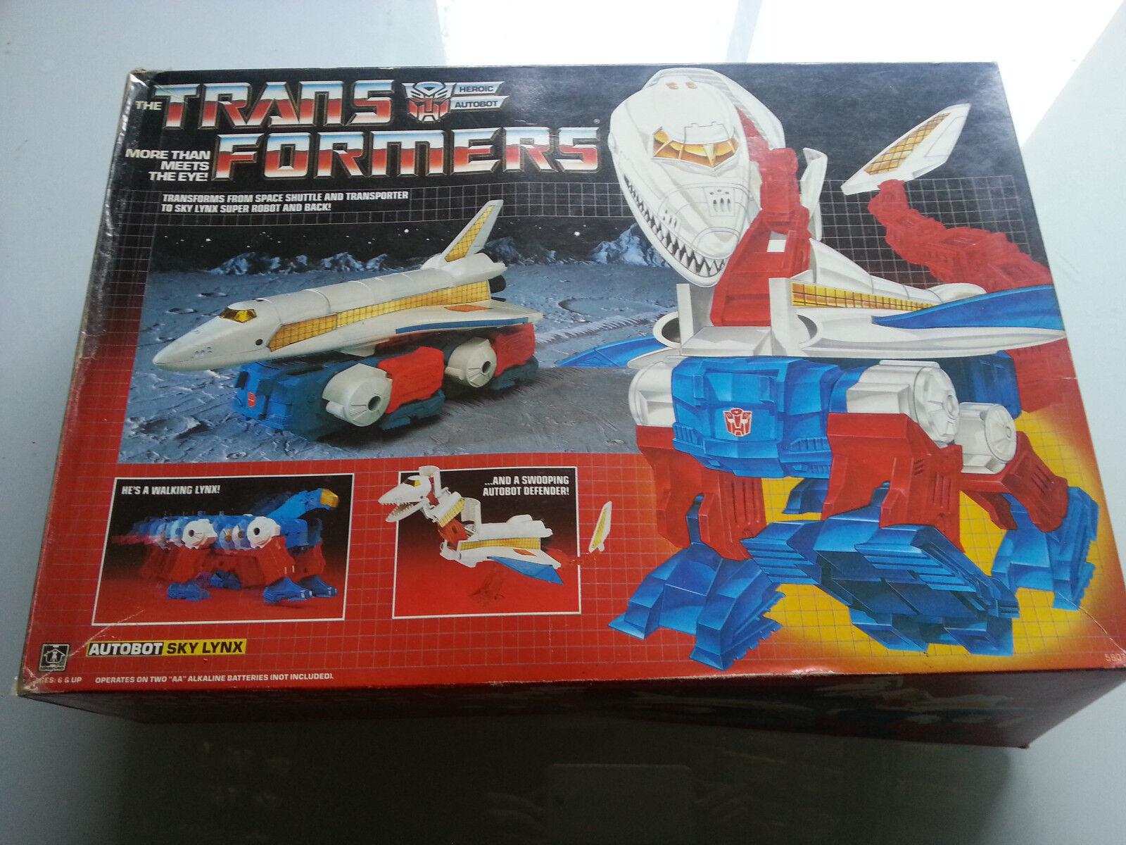SKYLYNX vintage G1 Transformers 100% complete original box