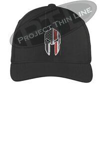 e0ee7ed9f38 Thin RED Line SPARTAN Firefighter Fireman Flex Fit Baseball Cap Hat ...