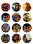 12 FIVE NIGHTS AT FREDDY/'S Edible Icing Image Birthday Cupcake Decoration Topper