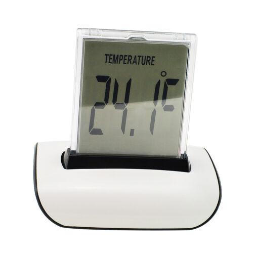 7 Color LED Changing Glow Alarm Clock Bedroom Safty Digital Termometer Display
