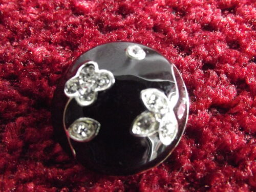 "~ ~ ~ occasions mariages G22 3//4 /"" 1 x strass noir effet bouton ~ environ 20mm"