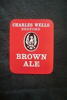 MINT CHARLES WELLS BEDFORD BROWN ALE BREWERY PAPER BOTTLE LABEL