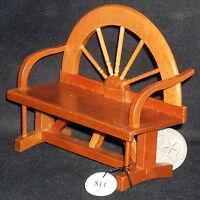 Wagon Wheel Bench 1:12 T7200 3 3/4l X 1 5/8d X 3 1/4 Dollhouse Miniature