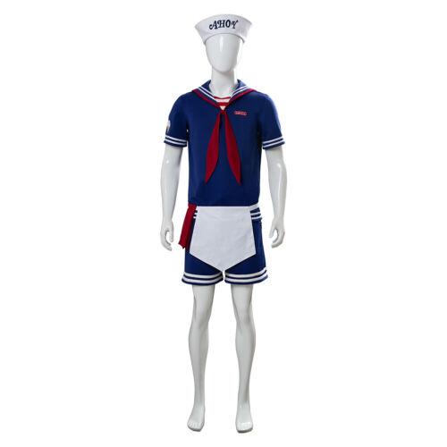 Stranger Things Season 3 Cosplay Steve Harrington Scoops Ahoy Costume Uniform