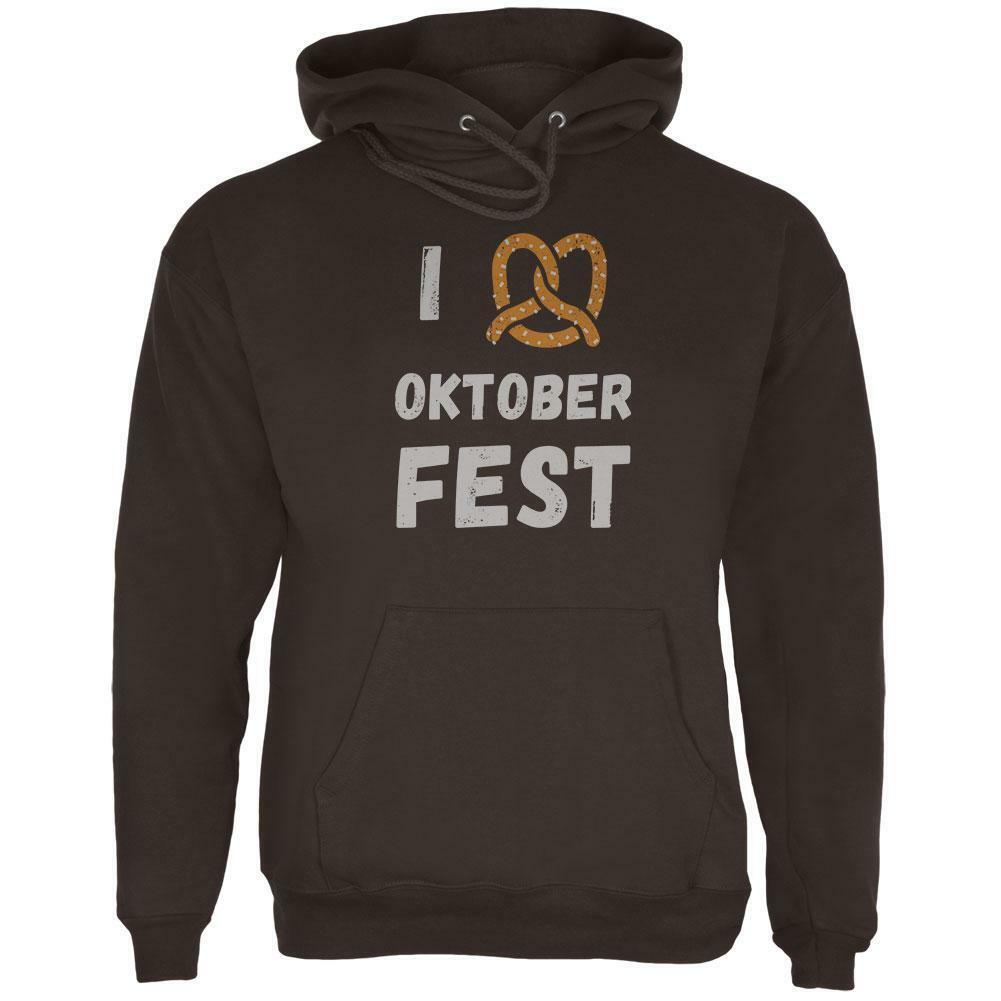 I Heart Love Pretzel Oktoberfest  Herren Hoodie