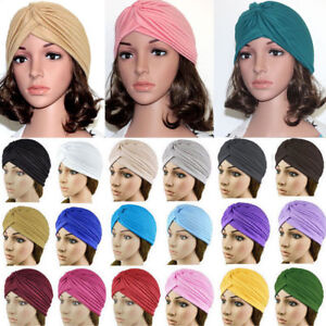 Fashion Indian Satin Bonnet Stretchable Turban Hat Hair Head Wrap Cap Headwrap
