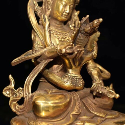 Chinese Old copper handmade Tibetan Buddha Sexual Buddha