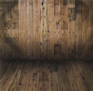 Rustic 10x8 FT Vinyl Backdrop PhotographersWorn Looking Wall Photograph with Wooden Floors Ancient Building Structure Background for Party Home Decor Outdoorsy Theme Shoot Props