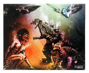 Attack On Titan Eren Yeager Titan Form Vs Godzilla And Monsters 8 X 10 Print Ebay