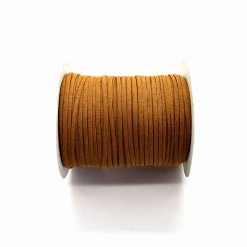 2m x 100/% Artificial Suede Leather Cord 3mm Flat Rustic String ✄ 4 Colours ✄ C2O