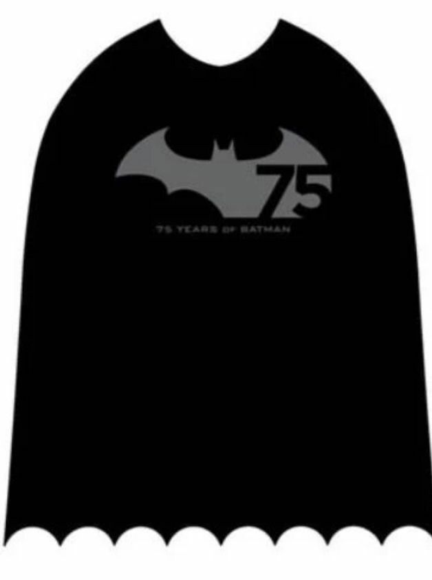 Batman 75th Anniversary Cape Mantello Rubies Rubies Rubies Adult Größe DC Comics New Costume 9ea708