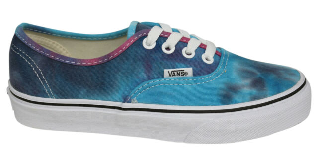 5a0726ce7a674 Vans Authentic Lace Up Mens Womens Unisex Tie Dye Pink Blue Plimsolls  ZUKFQ0 D29