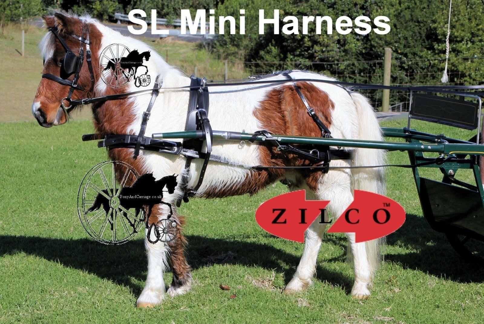 Zilco Arnés De Caballo Mini Cochero De Conducción Zilco SL Mini
