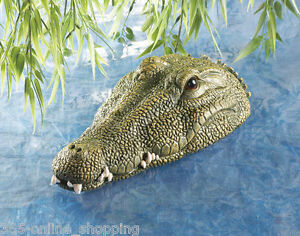 Attractive Image Is Loading Floating Garden Pond Water Feature Crocodile Alligator  Head