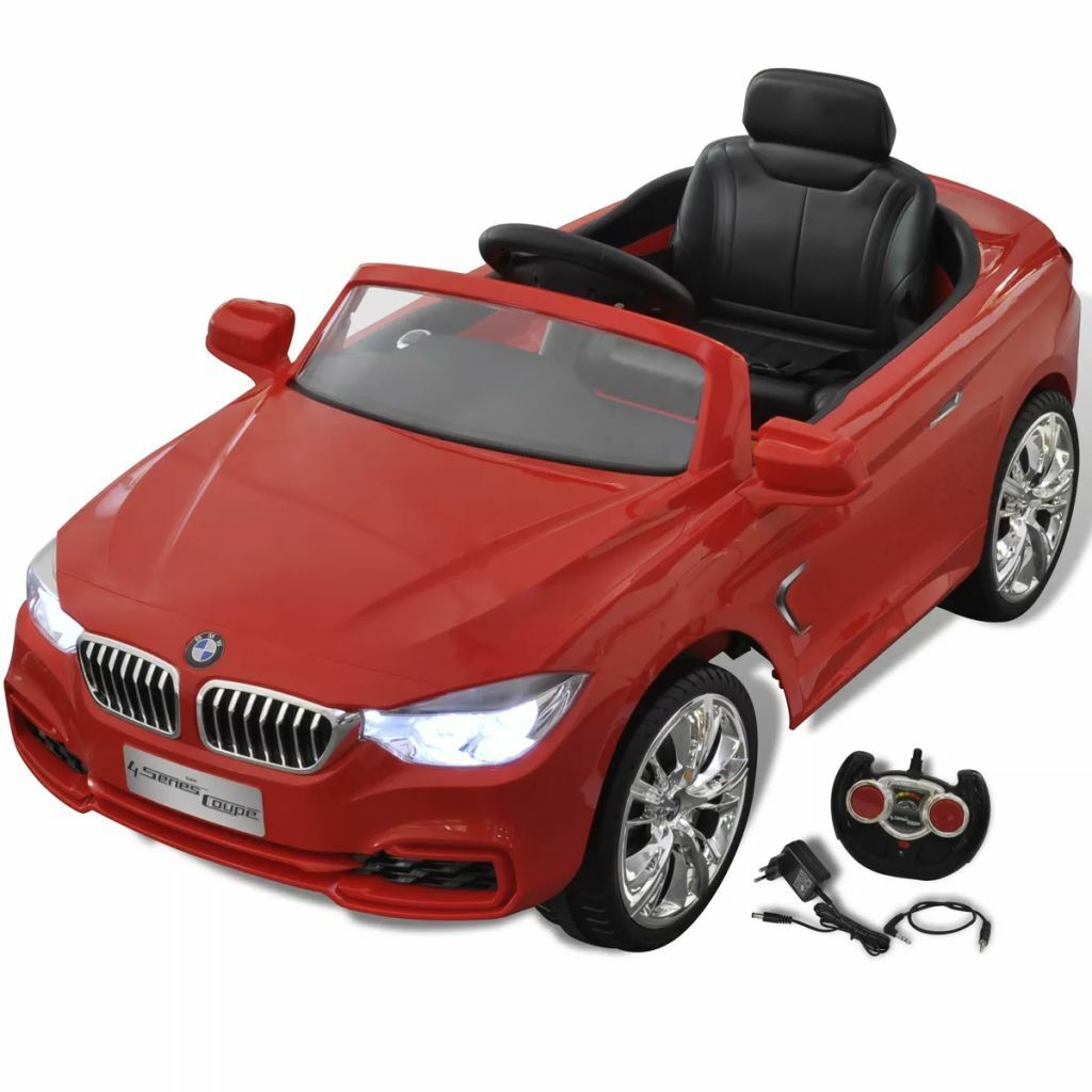 VidaXL Coche Eléctrico BMW Rojo con Control Remoto para Niños Auto de Juguete