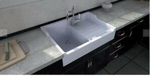 """François 1er - Chambord 35"""" Fireclay Single Bowl Apron Kitchen Sink - with drainboard Edmonton Area Preview"""