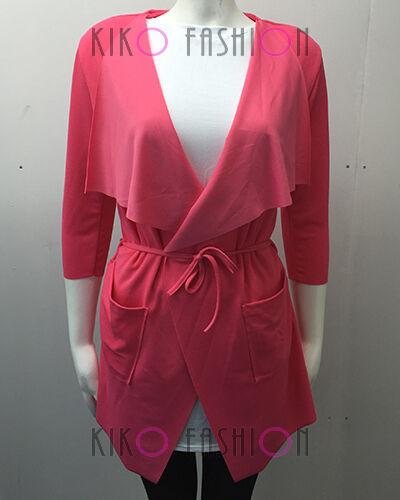 Pour femme célébrité cascade cardigan fallaway sans manches cape veste manteau