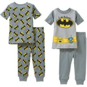 Licensed Baby Toddler Boy's Cotton Tight-Fit Pajamas 4-Piece Set