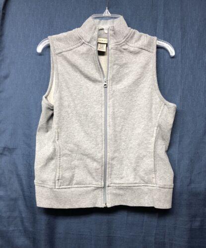 Ll Bean Womens Sweater Vest Medium Gray