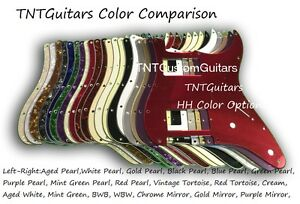 Dragonfire-HH-Hum-Hum-Strat-Pickguard-Choice-of-Colors-3-Ply-Fits-Fender