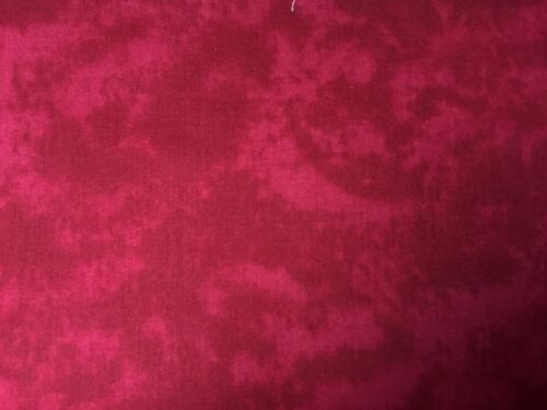 Red FQ Fat Quarter Fabric Plain Maroon Blended 100/% Cotton Quilting