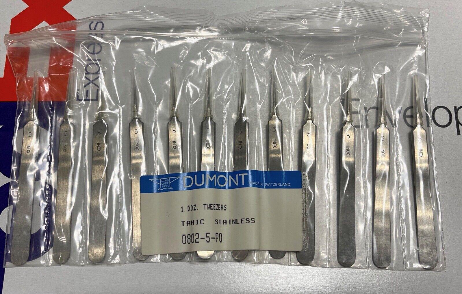 [ 1pc=1 Tweezer ] Dumont N. 5 Tanic Bergeon 0802-5-P0 Pinza watchmaker