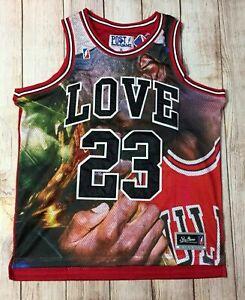new arrival f7665 371ac Post Game Jersey Michael Jordan 23 Bulls for The Love of Basketball Mens XXL