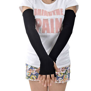 Women-Long-Fingerless-Arm-Sun-Protection-Covers-Golf-Driving-Cover-Gloves