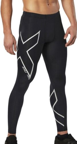 2XU Hyoptik Compression Mens Long Tights Black