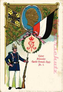 AK-Regimentskarte-Berlin-Kaiser-Alexander-Garde-Grenad-Regt-Nr-1-1911-10-09
