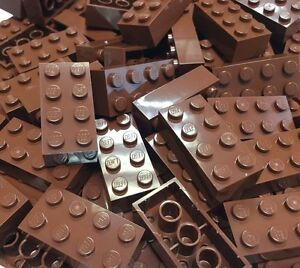 ❤NEW❤ LEGO 3004 Reddish Brown 1x2 Brick BULK Pack of 25
