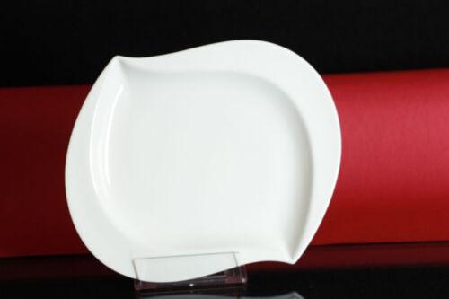 Kuchenteller Kuchen Teller Dessertteller Porzellan weiß Servierplatte ca.20//16cm