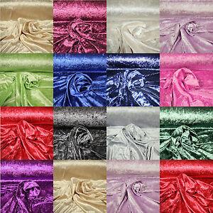 Pannesamt-Stoff-Dekostoff-knitterfrei-Samt-METERWARE-dehnbar-Vorhang-150-cm-br