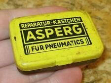 Blechdose ASPERG Reparatur Kästchen für Pneumatics LUFTREIFEN tin box ca. 1960