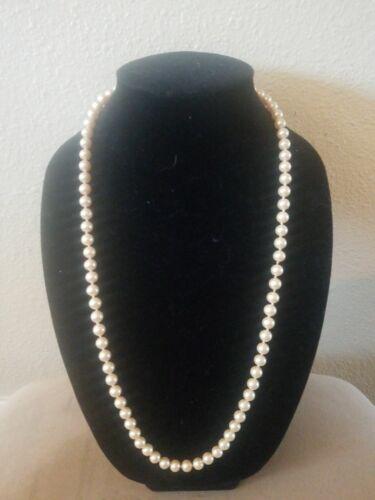 """Marvella 30"""" vintage pearl strand"""