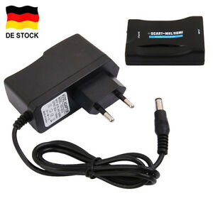 tv scart zu hdmi konverter adapter hd tv 1080p wandler converter mit eu stecker ebay. Black Bedroom Furniture Sets. Home Design Ideas
