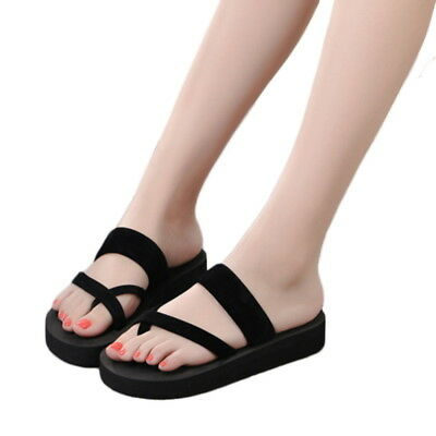 Ladies Summer Casual Slippers Flip Flops Flat Sandals Beach Open Toe Shoes Sizes