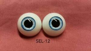 "Pabol /""Baby Grey/"" 22MM Half Round Acrylic Doll Eyes SEL16"