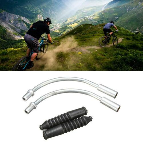 Pair Silver V Brake Noodles Cable Guide Mountain Road Rear NEU Front J4H5