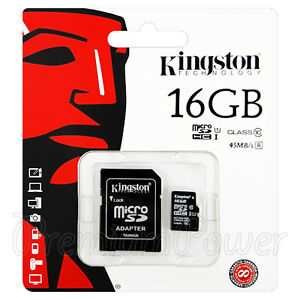 Kingston-micro-SDHC-16GB-Memory-card-Class-10-UHS-I-Flash-45MB-s-Adapter-GENUINE