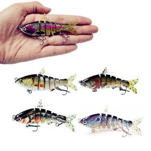 Multi Jointed Fishing Lures Sinking Wobblers Swimbait Crankbait Hard Bait Lure ~
