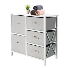 Fabric 5-Drawer Storage Organizer Unit with Fabric Bin Storage Unit For Bedroom