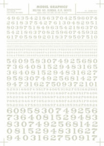 """Letters White 3//8-1//2/"""" Train Decal Sheet Woodland Scenics MG714 Roman R.R"""