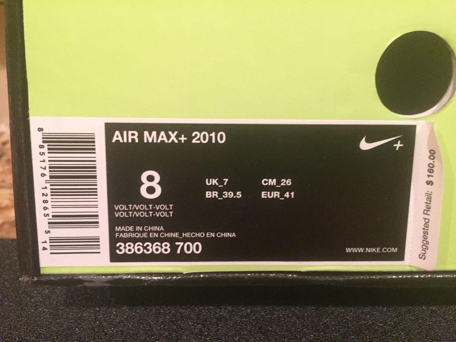 NIKE AIR MAX MAX MAX 2010 Dimensione 8 VOLT 386368 700 DJ CLARK KENT DS OG 1 90 95 97 8e478a