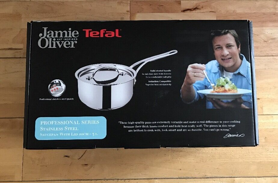 Jamie Oliver Stainless Steel Professional Series 20cm Induction Saucepan