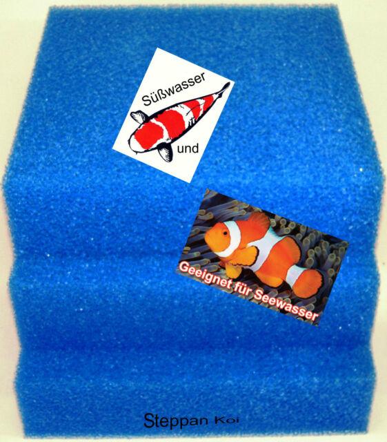 Filtermatte Filterschwamm Filterschaum 50 x 50 x 2 bis 50 x 50 x 15 cm Koi Teich