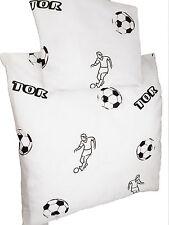 Baby Bettwäsche 2 teilig  Wiege Bezug 80x80 Kissenbezug 35x45 Fußball Motiv