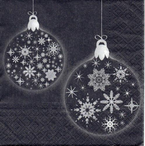 1327 4 Servietten Motivservietten Serviettentechnik Weihnachten Schneekugel
