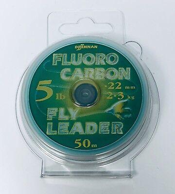 DRENNAN 3 LB 54 YARDS **NEW** FLUOROCARBON LEADER MATERIAL